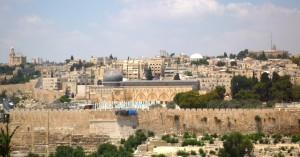 Blick auf die Al Aqsa-Moschee